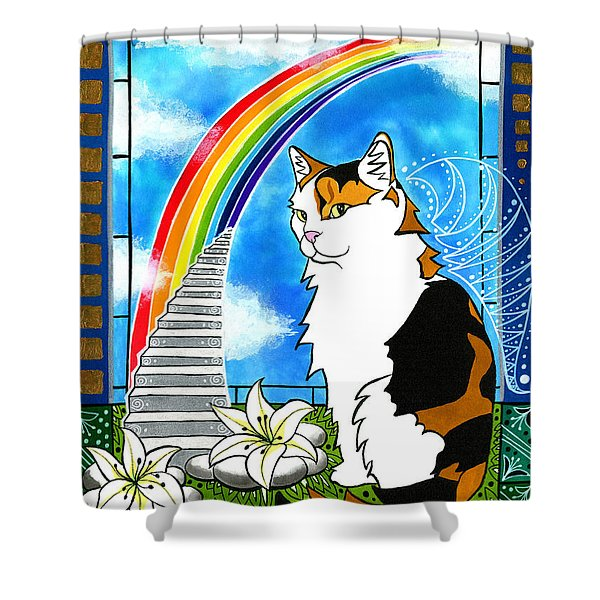 Mama Turtle - Cat Painting Shower Curtain