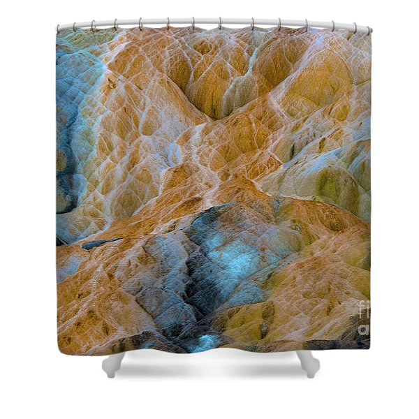 Shower Curtain featuring the photograph Mammoth Hot Springs by Mae Wertz