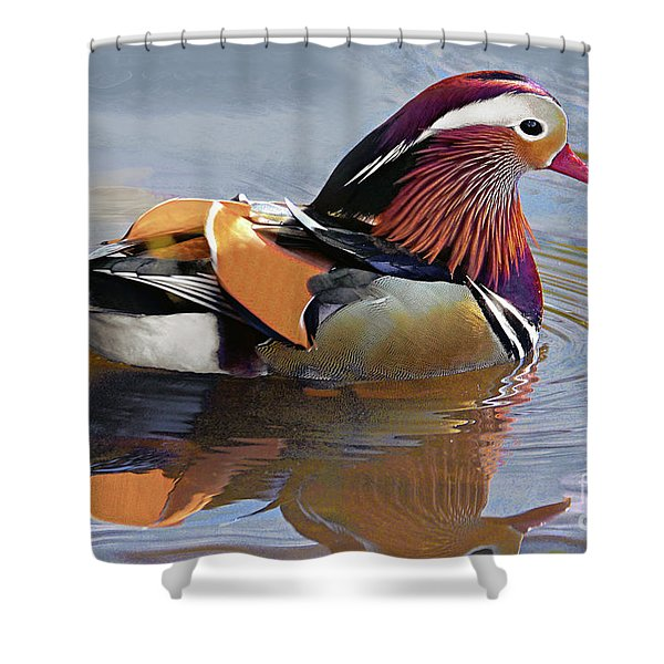 Mandarin Duck Central Park 4 Shower Curtain