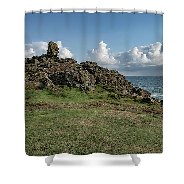 Man's Head - St Ives Cornwall Shower Curtain