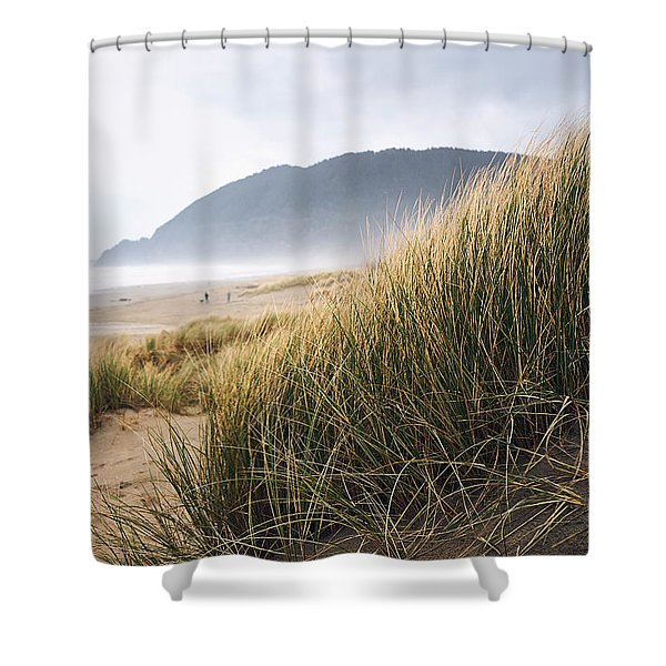 Shower Curtain featuring the photograph Manzanita Beach by Whitney Goodey