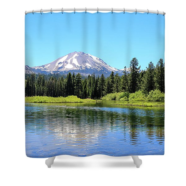 Shower Curtain featuring the photograph Manzanita Lake Reflection 1 by Dawn Richards