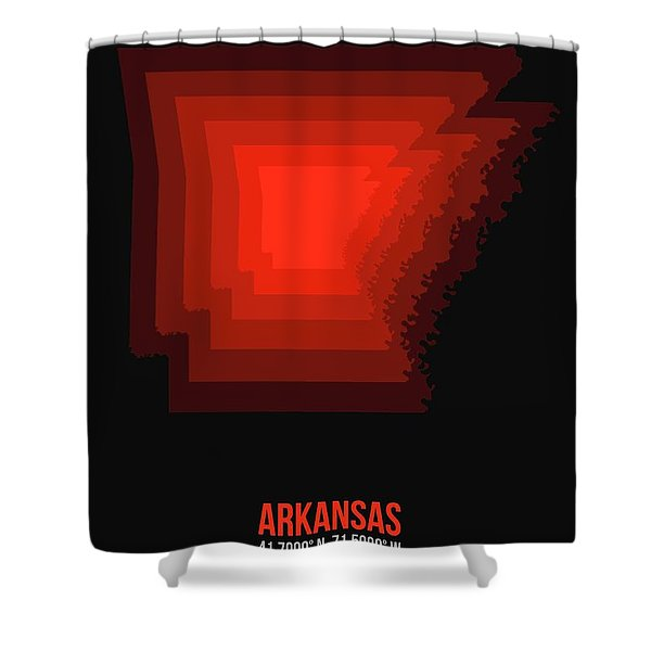 Map Of Arkansas Red Shower Curtain