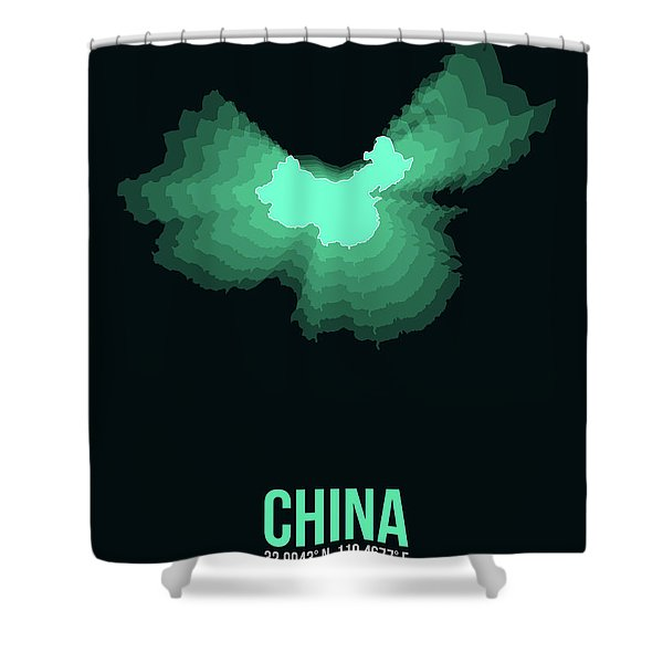 Map Of China 3 Shower Curtain