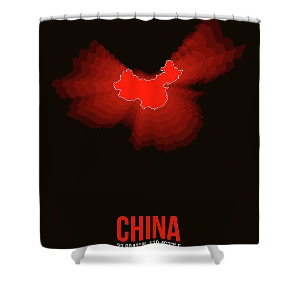 Map Of China Shower Curtain