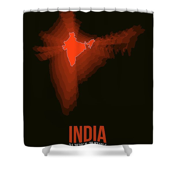 Map Of India Shower Curtain