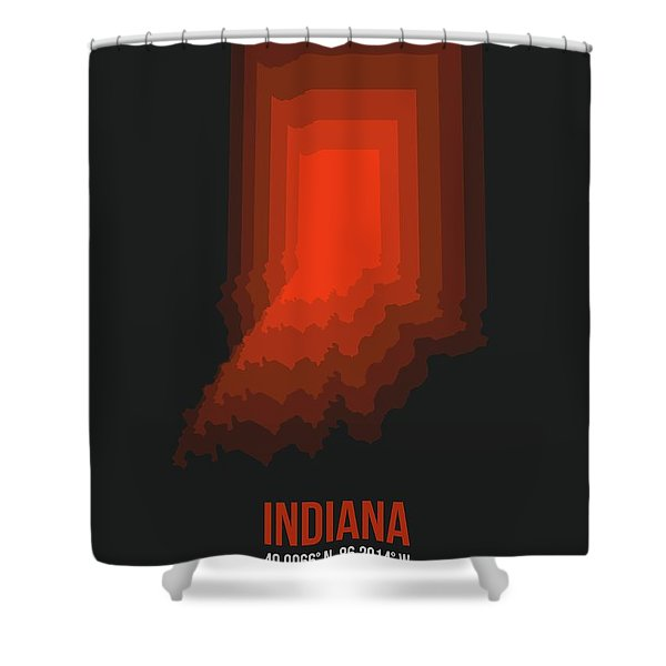 Map Of Indiana 1 Shower Curtain