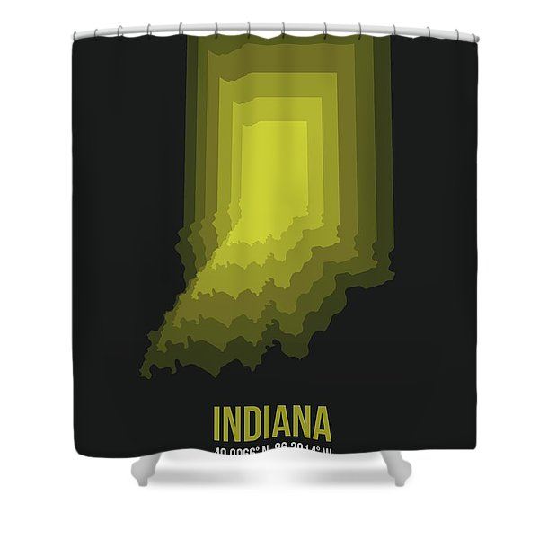 Map Of Indiana 3 Shower Curtain