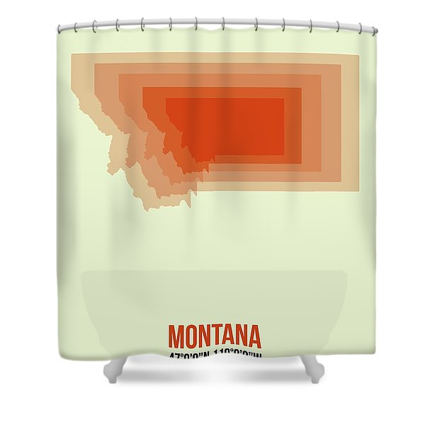 Map Of Montana Shower Curtain