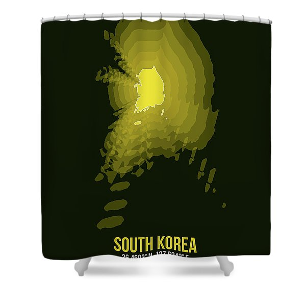 Map Of South Korea 2 Shower Curtain