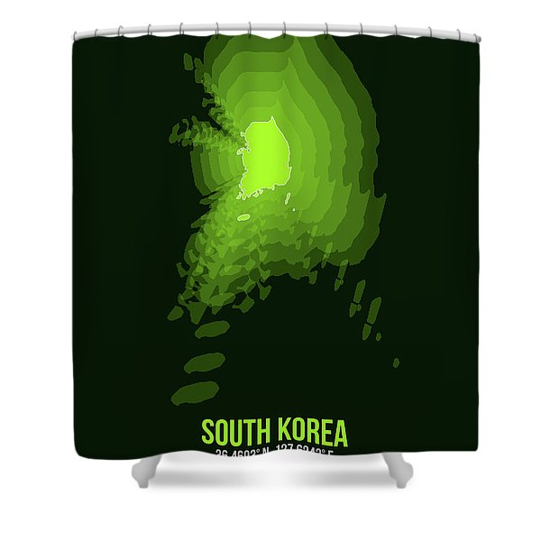 Map Of South Korea 3 Shower Curtain