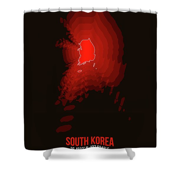 Map Of South Korea Shower Curtain
