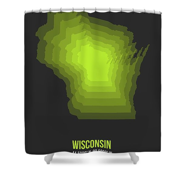 Map Of Wisconsin 2 Shower Curtain