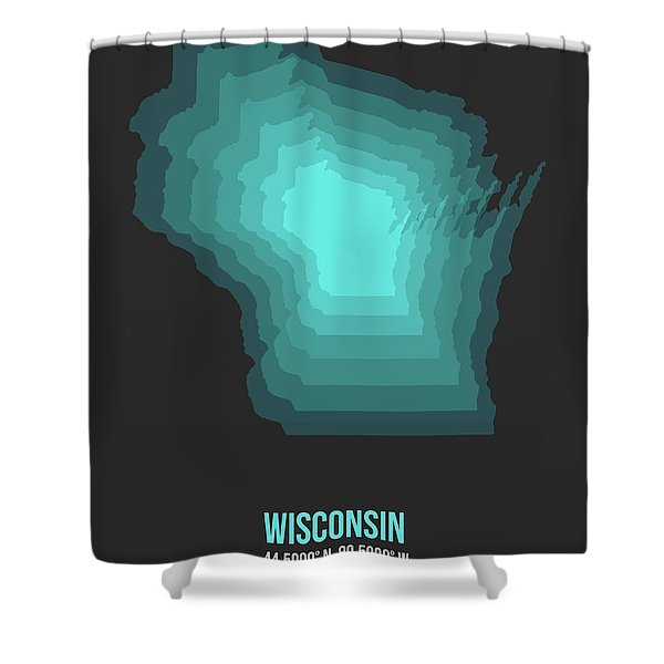 Map Of Wisconsin 3 Shower Curtain