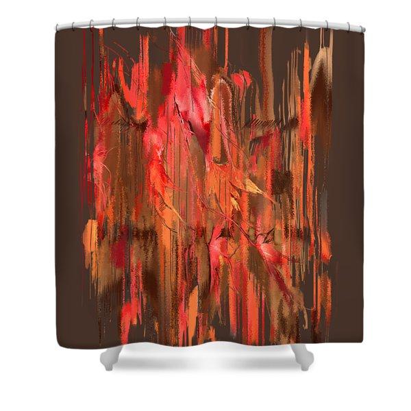 Maple Leaf Rag Shower Curtain