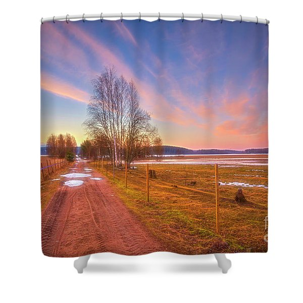 March Morning Shower Curtain