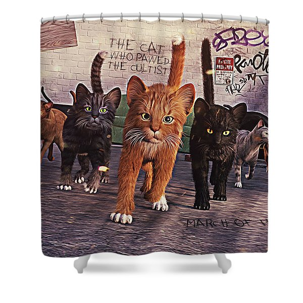 March Of The Mau Shower Curtain