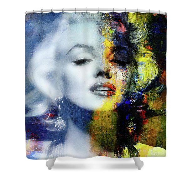 Marilyn Duality Shower Curtain