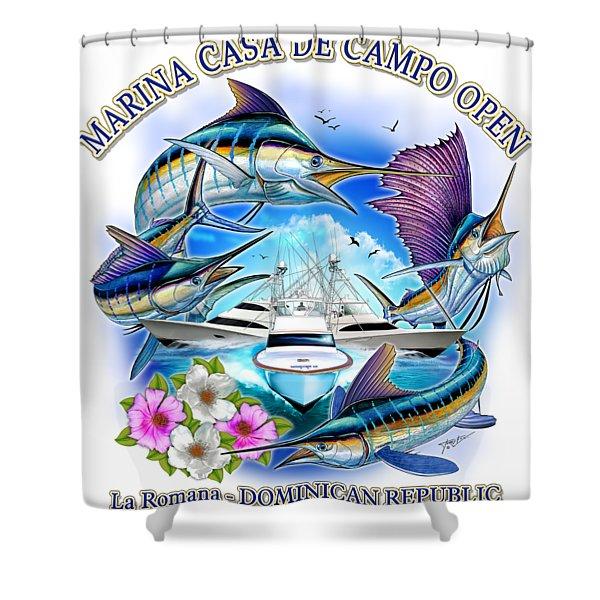 Marina Casa De Campo Open Art Shower Curtain