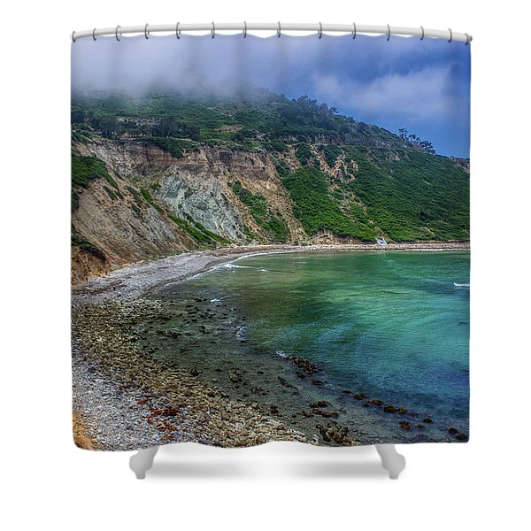 Marine Layer Over Bluff Cove Shower Curtain