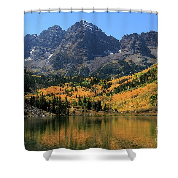 Maroon Bells In Fall Shower Curtain