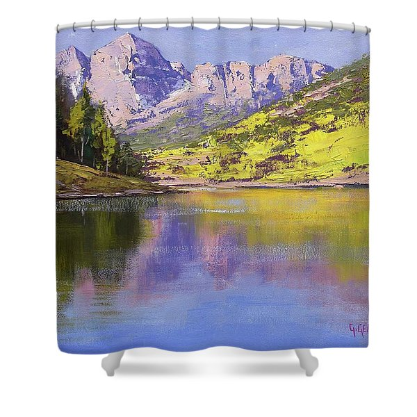 Maroon Bells Reflections Shower Curtain