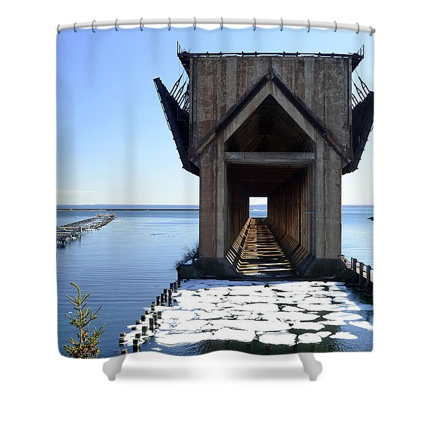 Marquette Ore Dock Cathedral Shower Curtain