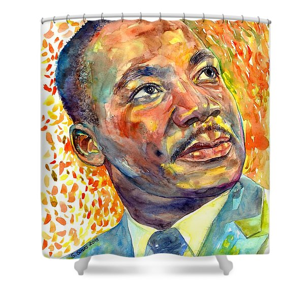 Martin Luther King Jr Portrait Shower Curtain