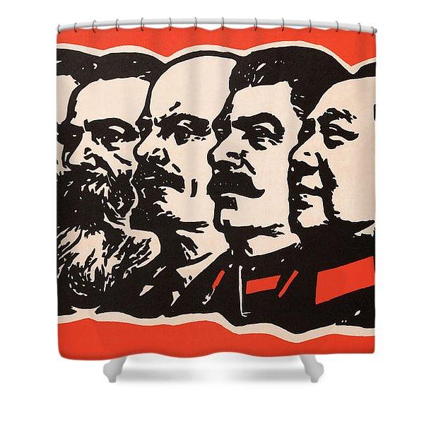 Marx Engels Lenin Stalin And Mao Shower Curtain