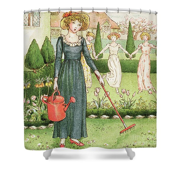 Mary, Mary, Quite Contrary Shower Curtain