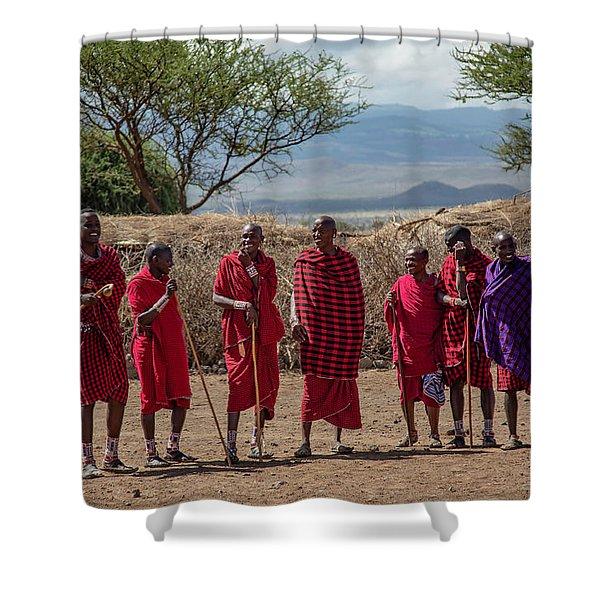 Maasai Men Shower Curtain