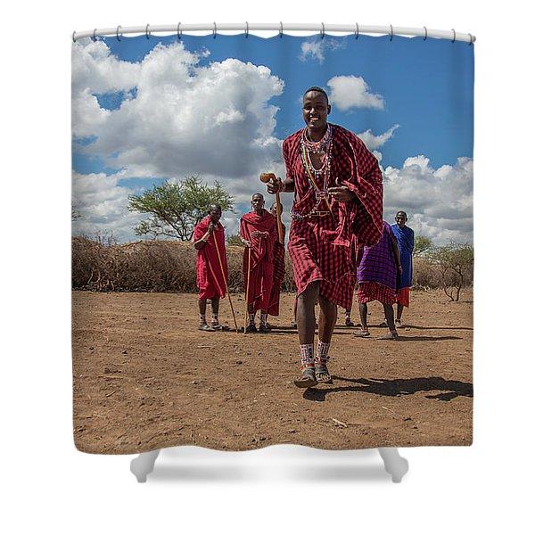 Maasai Welcome Shower Curtain
