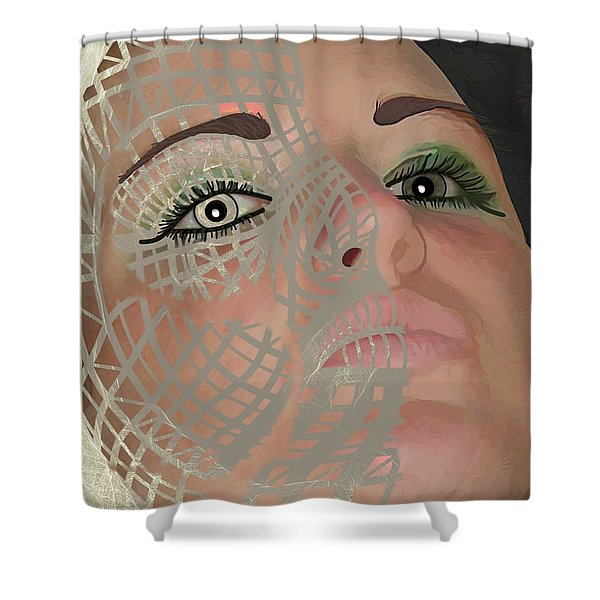 Mask Dark And Light Shower Curtain