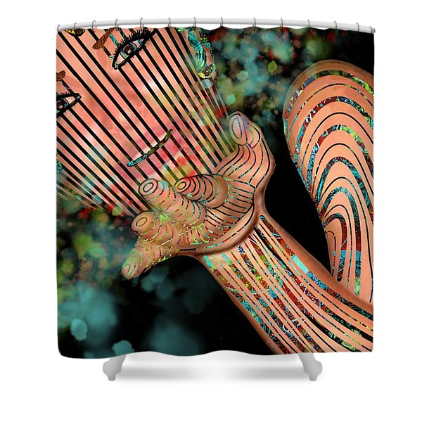 Mask Fairy Dust Shower Curtain