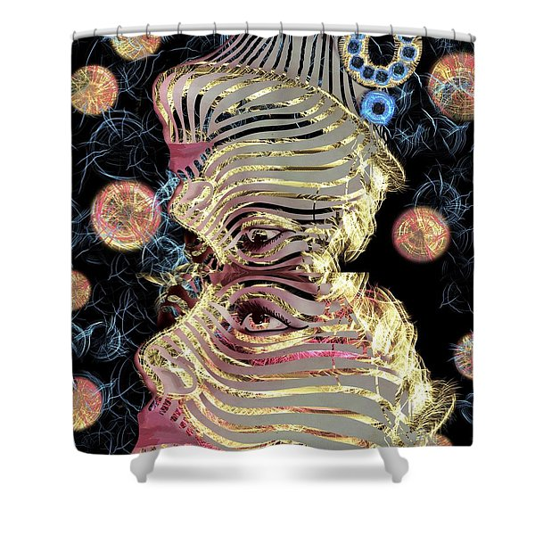 Mask My Minds Eye Shower Curtain