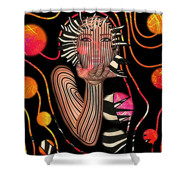 Mask Of The Sea Shower Curtain