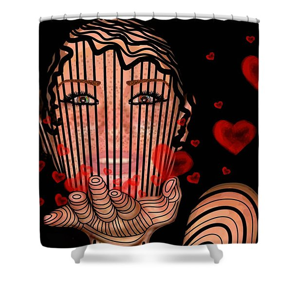 Mask Of Valentine Shower Curtain