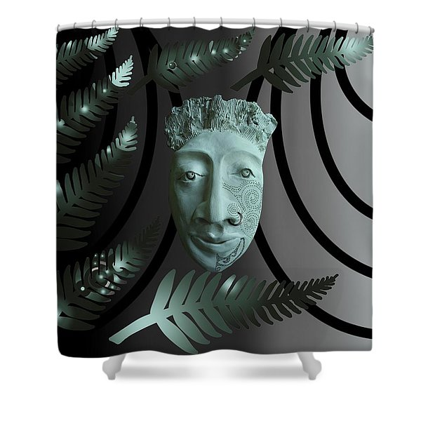 Mask The Maori Warrior Shower Curtain