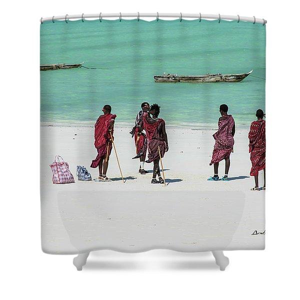 Massai At The Beach Shower Curtain