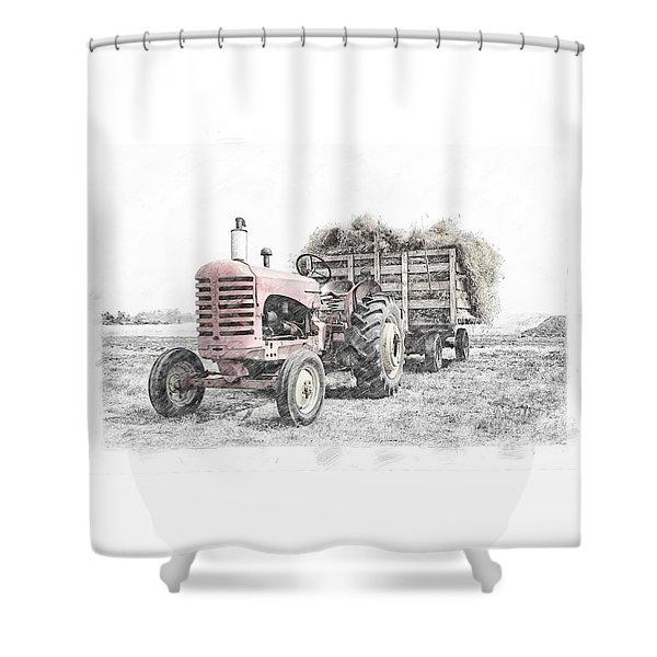 Massey Harris Shower Curtain