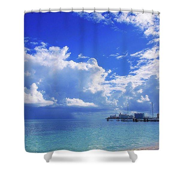 Massive Caribbean Clouds Shower Curtain