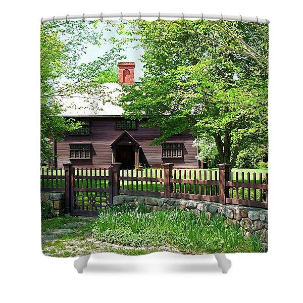 Matthew Whipple House Shower Curtain