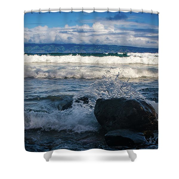 Maui Breakers Pano Shower Curtain