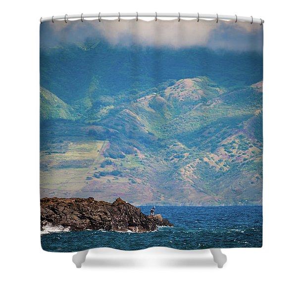 Maui Fisherman Shower Curtain
