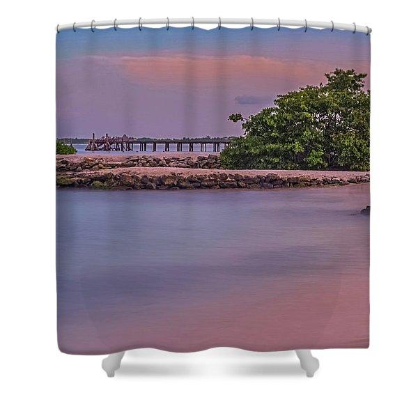 Mayan Shore Shower Curtain