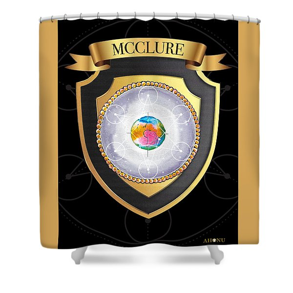 Mcclure Family Crest Shower Curtain