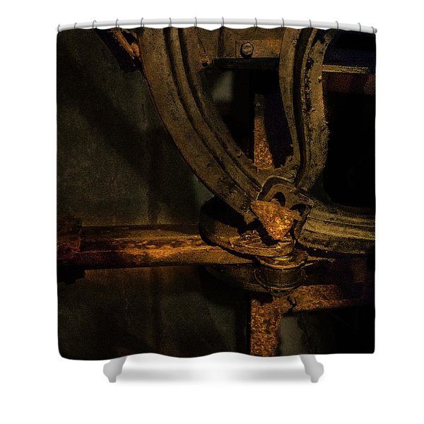 Shower Curtain featuring the photograph Mechanism by Juan Contreras