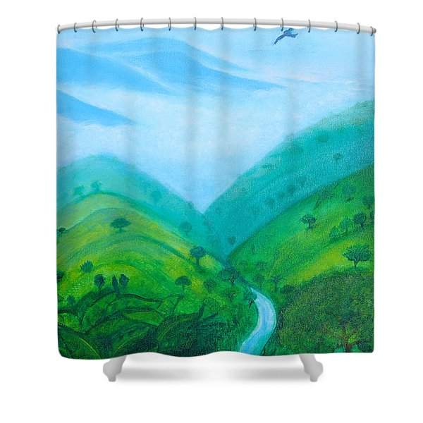 Shower Curtain featuring the painting Medellin Natural by Gabrielle Wilson-Sealy