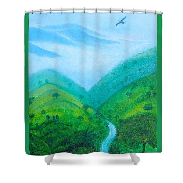 Medellin Natural Shower Curtain