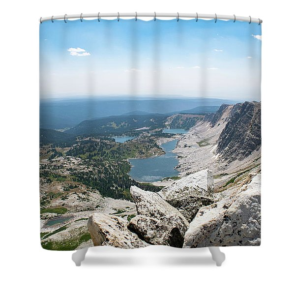 Medicine Bow Peak Shower Curtain